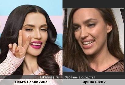 Ольга Серябкина немного похожа на Ирину Шейк