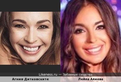 Дочь президента Азербайджана Лейла Алиева и Агния Дитковските