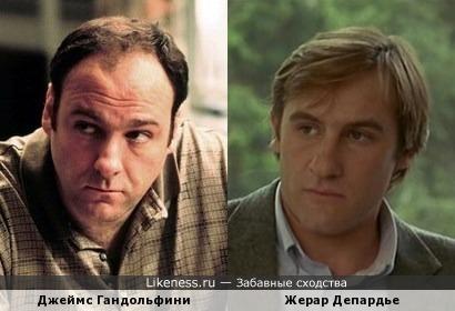 Джеймс Гандольфини схож с Жераром Депардье