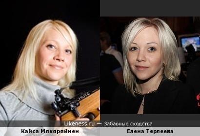 Финская биатлонистка похожа на Елену Терлееву