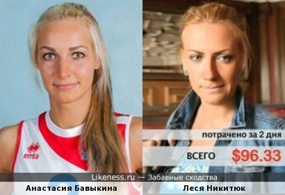 Волейболистка похожа на Лесю Никитюк