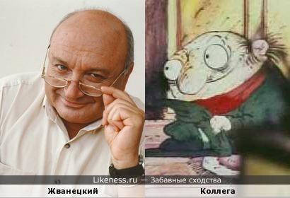Жванецкий похож на персонажа мультфильма