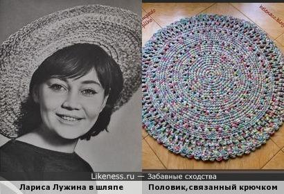 Шляпа напоминает половик