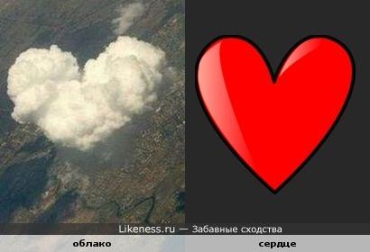 Облако похоже на сердце