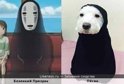 Собака в костюме напомнила мне того призрака