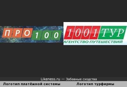 """Логотип туристической фирмы """"1001 тур"""