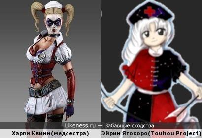 Marvel'овский злодей и персонаж из Touhou Project похожи по амплуа и расстановке цветов одежды