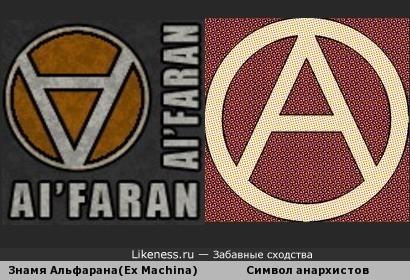 Развернули символ анархистов на 180 градусов - получили символ постапокалиптической исламистской группировки