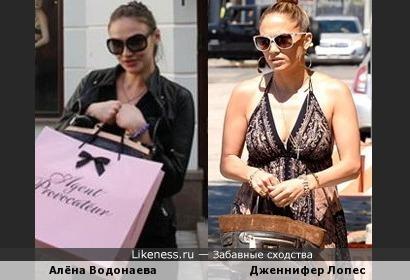 Алёна Водонаева и Дженнифер Лопес