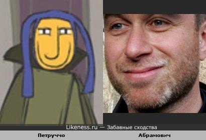 Роман Абрамович похож улыбкой на Петруччо из мультфильма