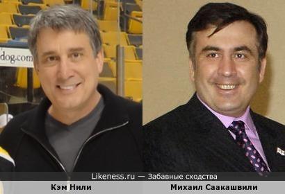 Кэм Нили и Михаил Саакашвили