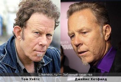 Том Уэйтс и Джеймс Хетфилд (Metallica)