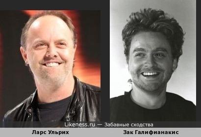 Ларс Ульрих (Metallica) и Зак Галифианакис