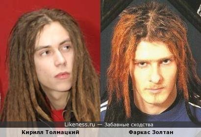 Кирилл Толмацкий (Децл) и Фаркас Золтан (Ektomorf - вокал, гитара)