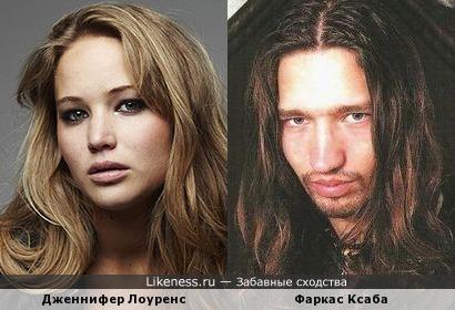 Дженнифер Лоуренс и Фаркас Ксаба (Ektomorf - бас-гитара)
