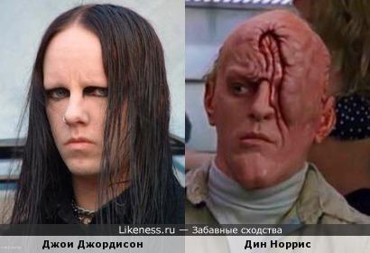 Джои Джордисон (Slipknot - ударные) и Дин Норрис (мутант в Вспомнить всё)
