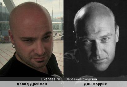 Дэвид Дрейман (Disturbed) и Дин Норрис
