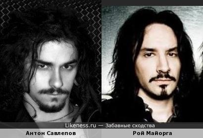 Антон Савлепов (Quest Pistols) и Рой Майорга (Stone Sour - ударные)