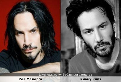 Рой Майорга (Stone Sour - ударные) и Киану Ривз