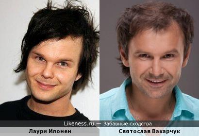 Лаури Илонен (The Rasmus - вокалист) и Святослав Вакарчук