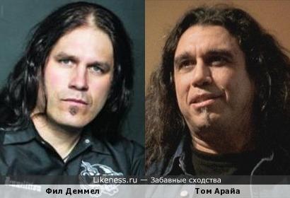 Фил Деммел (Machine Head - гитара) и Том Арайа (Slayer - вокал, бас-гитара)