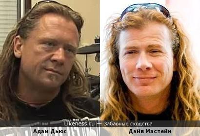 Адам Дьюс (Machine Head - бас-гитара, вокал) и Дэйв Мастейн (Metallica - гитара)