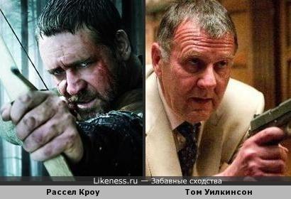 Рассел Кроу (Робин Гуд) и Том Уилкинсон