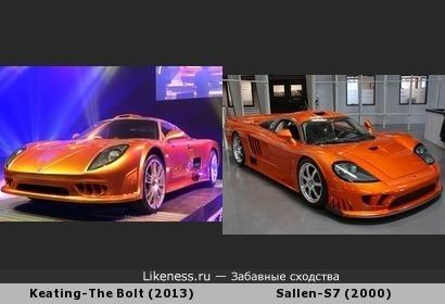 Схожесть дизайна Keating-The Bolt (2013) и Sallen-S7 (2000)