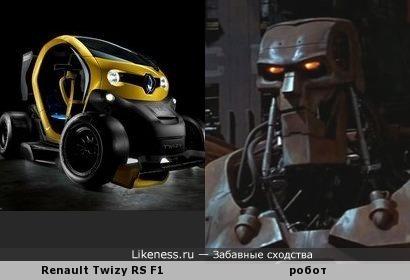 Renault Twizy RS F1 мне напомнил робота из Судья Дредд