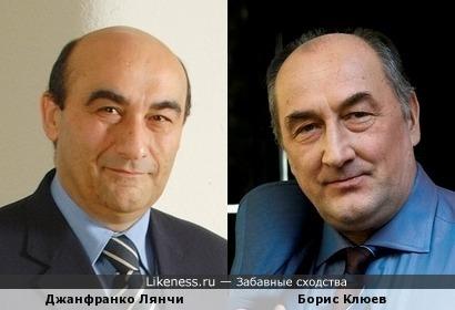 Джанфранко Лянчи (вице-президент Lenovo) и Борис Клюев