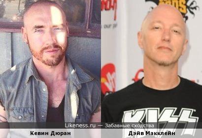 Кевин Дюран и Дэйв Макклейн (барабанщик Machine Head)