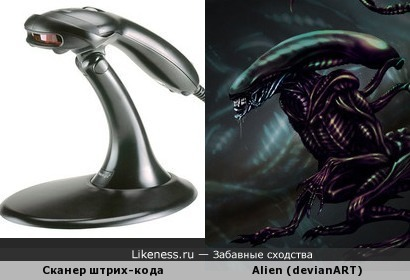 Сканер штрих-кода Metrologic Voyager похож на рисунок чужого