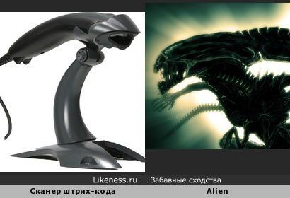 Сканер штрих-кода Metrologic Honeywell похож на чужого