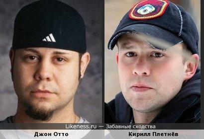Джон Отто (барабанщик Limp Bizkit) и Кирилл Плетнёв
