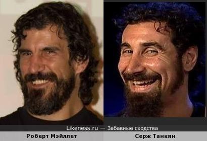 Роберт Мэйллет и Серж Танкян (вокалист SOAD)