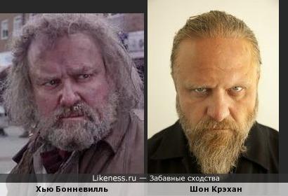 Хью Бонневилль (Мистер Вонючка) и Шон Крэхан (барабанщик перкуссионист Slipknot)