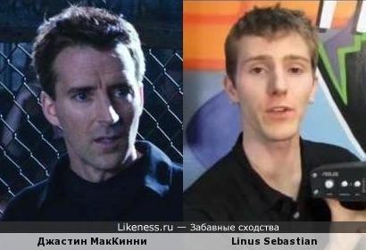 Джастин МакКинни (Толстяк на ринге) и обзорщик техники Linus Sebastian