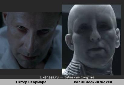 Петер Стормаре в к/ф Константин напомнил космического жокея из Прометей