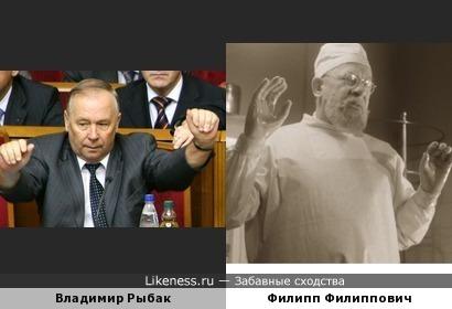 Владимир Рыбак, профессор Преображенский