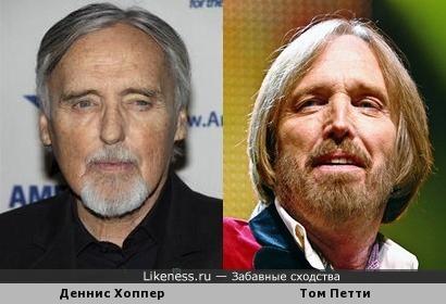 Деннис Хоппер похож на Тома Петти