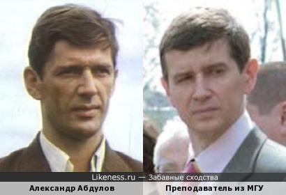 Историк похож на Александра Абдулова