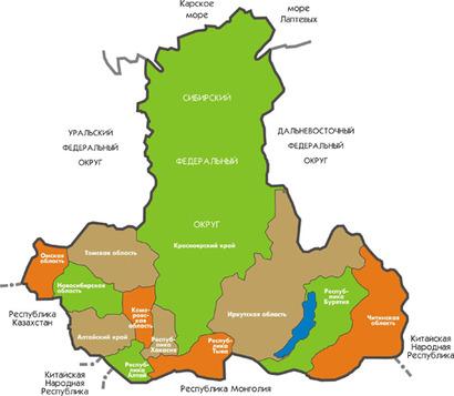 На юге Западной Сибири в горах Алтая, на границе России с Казахстаном и Монголией расположена Республика Алтай.