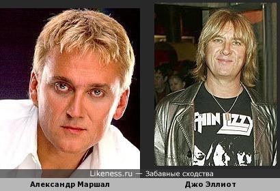 Вокалист Def Leppard Джо Эллиот и Александр Маршал похожи