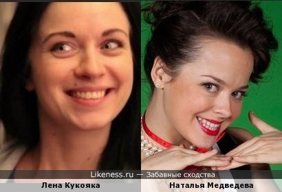 Две жизнерадостные девушки похожи немного