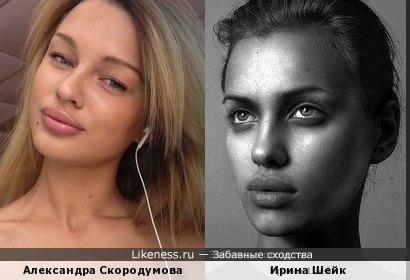 А.Скородумова похожа на И.Шейк