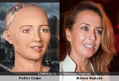 Робот Софи похож на Жанну Фриске