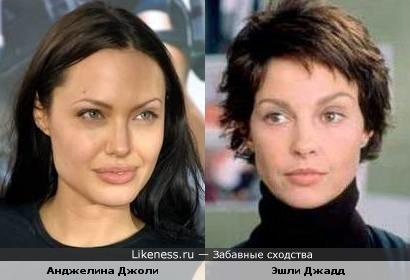 Анджелина Джоли похожа на Эшли Джадд