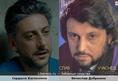 Серджио Кастеллито похож на Вячеслава Добрынина