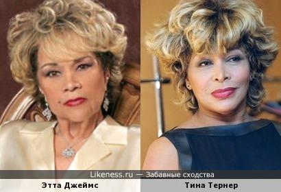 Американские певицы Этта Джейс и Тина Тернер