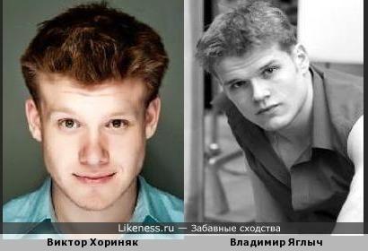 Виктор Хориняк похож на Владимира Яглыч